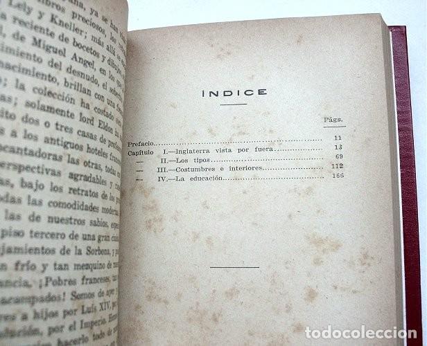 Libros antiguos: Notas sobre Inglaterra. Tomos I y II encuadernados en un volumen. Calpe, 1920 - Foto 5 - 212110986
