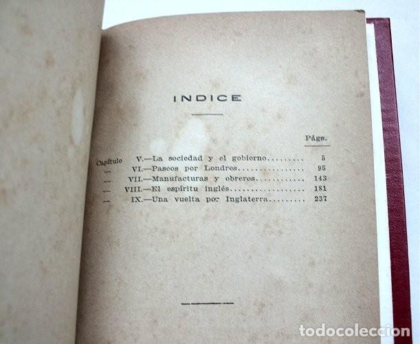 Libros antiguos: Notas sobre Inglaterra. Tomos I y II encuadernados en un volumen. Calpe, 1920 - Foto 6 - 212110986