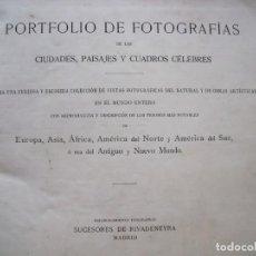 Libros antiguos: JOHN L. STODDARD.-PORTFOLIO DE FOTOGRAFIAS.-VILLAS.-PAISAJES.-PINTURAS.-CHICAGO.-PRINCIPIOS S. XX.. Lote 212207913