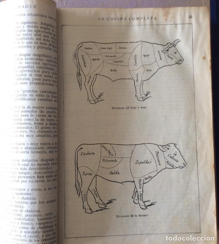 Libros antiguos: La cocina completa. Mestayer de Echagüe (Marquesa de Parabere) 1933 - Foto 3 - 212371068