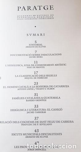 Libros antiguos: REVISTA PARATGE 1990 (EN CATALAN) CUADERNO DE ESTUDIOS DE GENEALOGIA Y HERALDICA - Foto 2 - 212375493