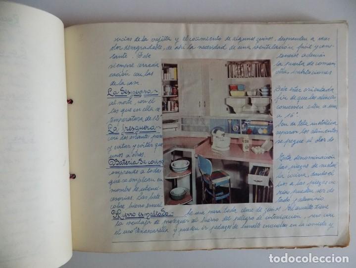Libros antiguos: LIBRERIA GHOTICA. EXCEPCIONAL MANUSCRITO DE COCINA DE 1940.RECETAS, LECCIONES Y ILUSTRACIONES. ÚNICO - Foto 4 - 212485947