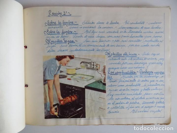 Libros antiguos: LIBRERIA GHOTICA. EXCEPCIONAL MANUSCRITO DE COCINA DE 1940.RECETAS, LECCIONES Y ILUSTRACIONES. ÚNICO - Foto 5 - 212485947