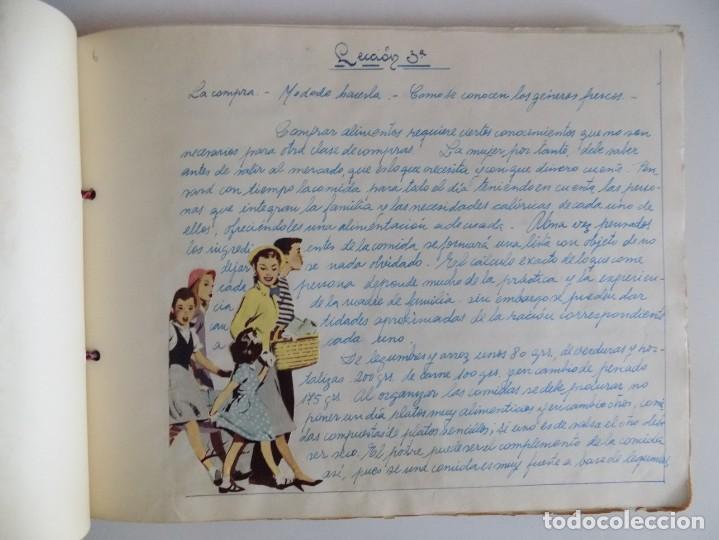 Libros antiguos: LIBRERIA GHOTICA. EXCEPCIONAL MANUSCRITO DE COCINA DE 1940.RECETAS, LECCIONES Y ILUSTRACIONES. ÚNICO - Foto 6 - 212485947