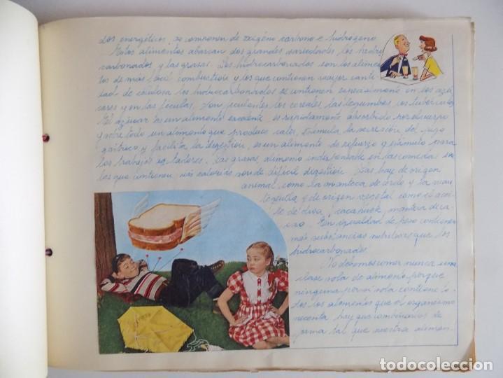 Libros antiguos: LIBRERIA GHOTICA. EXCEPCIONAL MANUSCRITO DE COCINA DE 1940.RECETAS, LECCIONES Y ILUSTRACIONES. ÚNICO - Foto 8 - 212485947