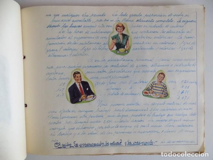 Libros antiguos: LIBRERIA GHOTICA. EXCEPCIONAL MANUSCRITO DE COCINA DE 1940.RECETAS, LECCIONES Y ILUSTRACIONES. ÚNICO - Foto 9 - 212485947