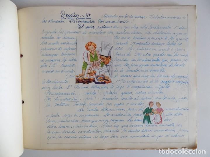 Libros antiguos: LIBRERIA GHOTICA. EXCEPCIONAL MANUSCRITO DE COCINA DE 1940.RECETAS, LECCIONES Y ILUSTRACIONES. ÚNICO - Foto 10 - 212485947