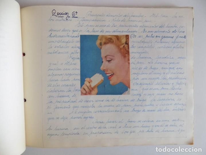Libros antiguos: LIBRERIA GHOTICA. EXCEPCIONAL MANUSCRITO DE COCINA DE 1940.RECETAS, LECCIONES Y ILUSTRACIONES. ÚNICO - Foto 11 - 212485947