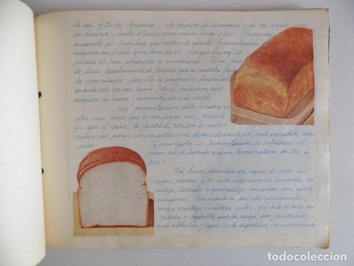 Libros antiguos: LIBRERIA GHOTICA. EXCEPCIONAL MANUSCRITO DE COCINA DE 1940.RECETAS, LECCIONES Y ILUSTRACIONES. ÚNICO - Foto 12 - 212485947