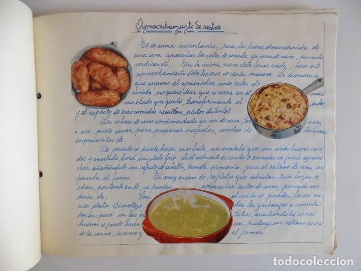 Libros antiguos: LIBRERIA GHOTICA. EXCEPCIONAL MANUSCRITO DE COCINA DE 1940.RECETAS, LECCIONES Y ILUSTRACIONES. ÚNICO - Foto 14 - 212485947