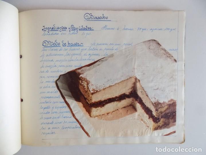 Libros antiguos: LIBRERIA GHOTICA. EXCEPCIONAL MANUSCRITO DE COCINA DE 1940.RECETAS, LECCIONES Y ILUSTRACIONES. ÚNICO - Foto 17 - 212485947