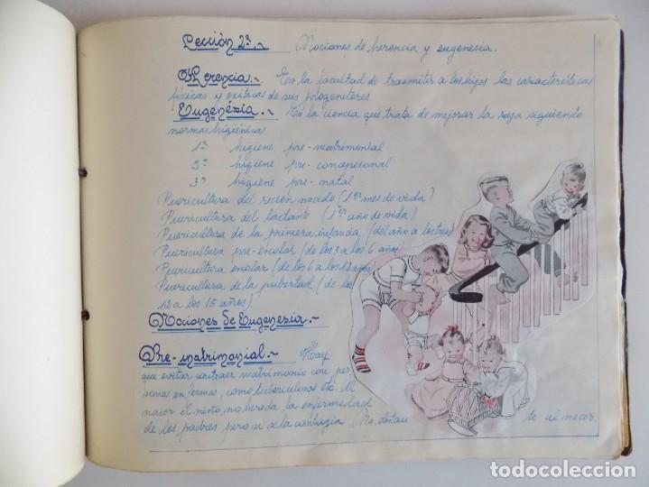 Libros antiguos: LIBRERIA GHOTICA. EXCEPCIONAL MANUSCRITO DE COCINA DE 1940.RECETAS, LECCIONES Y ILUSTRACIONES. ÚNICO - Foto 20 - 212485947