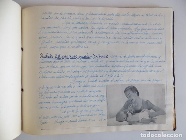 Libros antiguos: LIBRERIA GHOTICA. EXCEPCIONAL MANUSCRITO DE COCINA DE 1940.RECETAS, LECCIONES Y ILUSTRACIONES. ÚNICO - Foto 21 - 212485947
