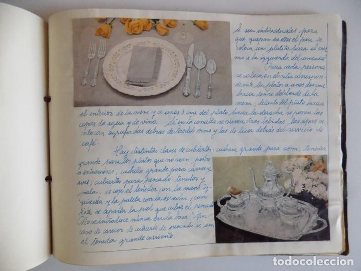 Libros antiguos: LIBRERIA GHOTICA. EXCEPCIONAL MANUSCRITO DE COCINA DE 1940.RECETAS, LECCIONES Y ILUSTRACIONES. ÚNICO - Foto 22 - 212485947