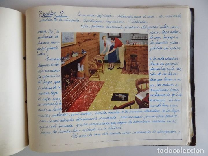 Libros antiguos: LIBRERIA GHOTICA. EXCEPCIONAL MANUSCRITO DE COCINA DE 1940.RECETAS, LECCIONES Y ILUSTRACIONES. ÚNICO - Foto 26 - 212485947