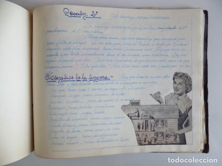 Libros antiguos: LIBRERIA GHOTICA. EXCEPCIONAL MANUSCRITO DE COCINA DE 1940.RECETAS, LECCIONES Y ILUSTRACIONES. ÚNICO - Foto 27 - 212485947