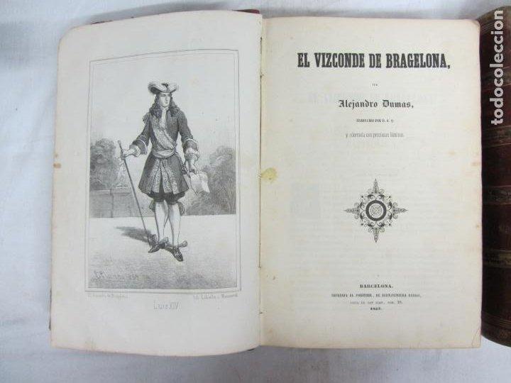 Libros antiguos: El vizconde de Bragelona - Alejandro Dumas - Barcelona 1837 y 1858 - Foto 3 - 212491931