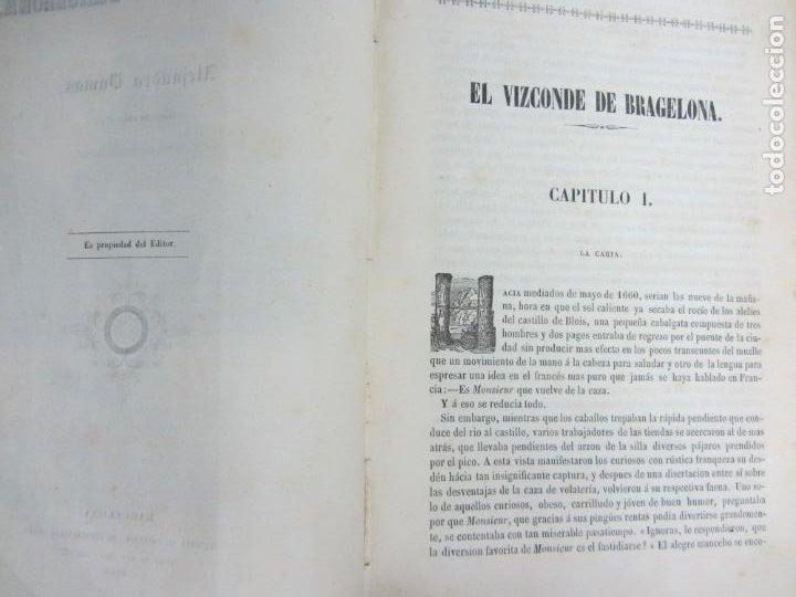 Libros antiguos: El vizconde de Bragelona - Alejandro Dumas - Barcelona 1837 y 1858 - Foto 4 - 212491931