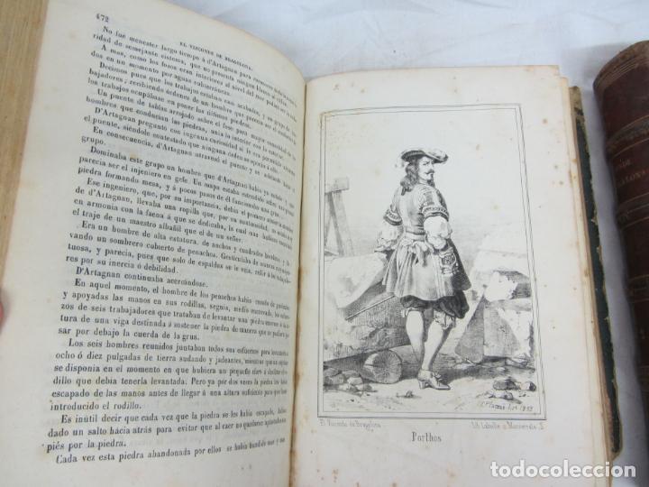 Libros antiguos: El vizconde de Bragelona - Alejandro Dumas - Barcelona 1837 y 1858 - Foto 5 - 212491931