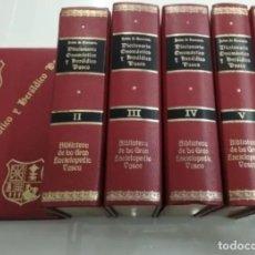 Libros antiguos: DICCIONARIO ONOMÁSTICO Y HERALDICO VASCO JAIME DE QUEREXETA OBRA COMPLETA 6 VOLS APELLIDOS VASCOS. Lote 206250268
