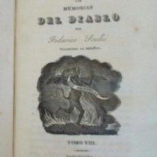 Libros antiguos: LAS MEMORIAS DEL DIABLO POR FEDERICO SOULIÉ. TOMOS VII Y VIII EN UN VOLUMEN. 1839.. Lote 212536665