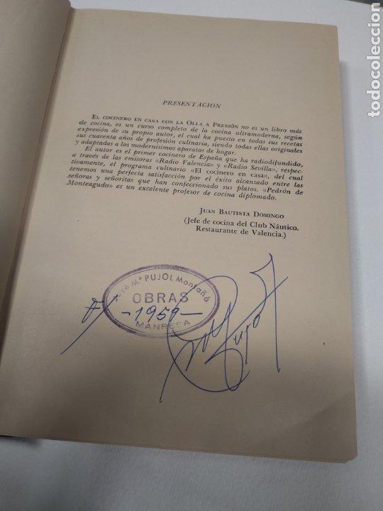 Libros antiguos: Pedron de monteagudo el cocinero en casa con la olla a presión - Foto 3 - 212653775