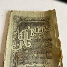 Libros antiguos: ALBUMS PARA BORDAR. Lote 212672537