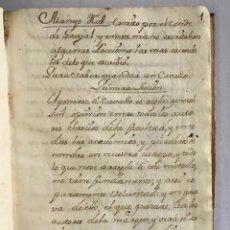 Libros antiguos: MANEJO REAL ESCRITO POR EL CONDE DE GRAJAL, Y EN ESTE MANOESCRITO... - [MANUSCRITO]. ÁLVAREZ OSORIO. Lote 212966142