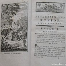 Libros antiguos: LES METAMORPHOSES D'OVIDE. TOME SECOND. 1787. PARIS. COMPAGNIE DES LIBRAIRES. GRABADOS.. Lote 212997960