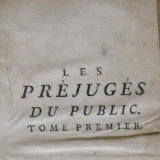Libros antiguos: LES PRÉJUGÉS DU PUBLIC SUR L'HONNEUR. PARIS. 1765. TOME PREMIER. M. DENESLE. 400 PÁGS. EN FRANCÉS.. Lote 212999382