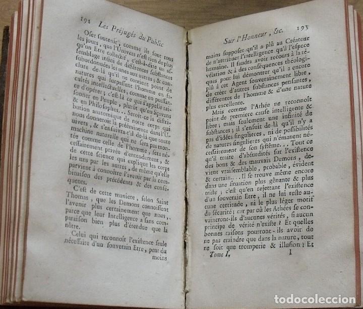 Libros antiguos: Les préjugés du public sur lhonneur. Paris. 1765. Tome Premier. M. Denesle. 400 págs. En francés. - Foto 3 - 212999382