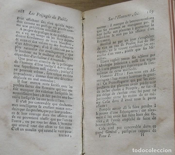 Libros antiguos: Les préjugés du public sur lhonneur. Paris. 1765. Tome Premier. M. Denesle. 400 págs. En francés. - Foto 4 - 212999382
