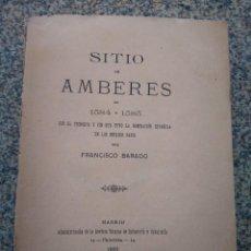Libros antiguos: SITIO DE AMBERES EN 1584-1585 -- FRANCISCO BARDO -- MADRID 1895 --. Lote 213108055