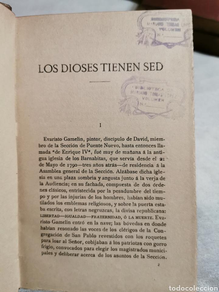 Libros antiguos: los dioses tienen sed Anatole France - Foto 4 - 213280990