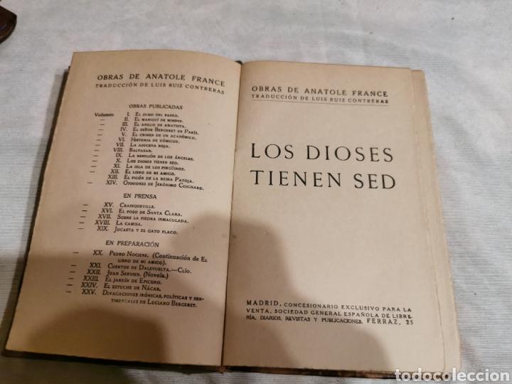 LOS DIOSES TIENEN SED ANATOLE FRANCE (Libros Antiguos, Raros y Curiosos - Literatura - Otros)