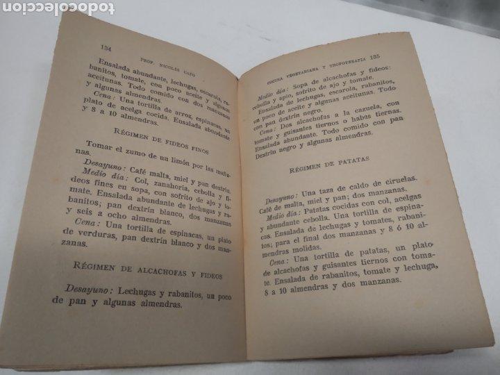 Libros antiguos: CAPO, Profesor Nicolás:Cocina vegetariana y trofoterapia. (Compatibilidad química de los alimentos - Foto 2 - 213281303