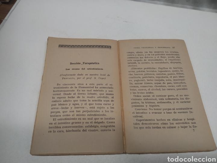 Libros antiguos: CAPO, Profesor Nicolás:Cocina vegetariana y trofoterapia. (Compatibilidad química de los alimentos - Foto 4 - 213281303
