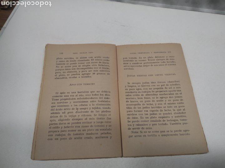 Libros antiguos: CAPO, Profesor Nicolás:Cocina vegetariana y trofoterapia. (Compatibilidad química de los alimentos - Foto 5 - 213281303