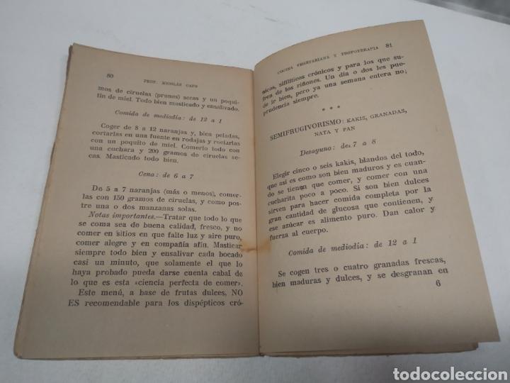 Libros antiguos: CAPO, Profesor Nicolás:Cocina vegetariana y trofoterapia. (Compatibilidad química de los alimentos - Foto 7 - 213281303
