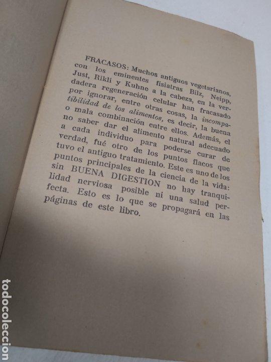 Libros antiguos: CAPO, Profesor Nicolás:Cocina vegetariana y trofoterapia. (Compatibilidad química de los alimentos - Foto 9 - 213281303