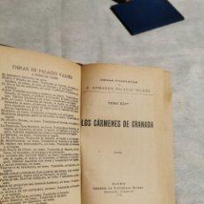 Libros antiguos: LOS CÁRMENES DE GRANADA P VALDÉS. Lote 213281860