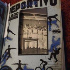 Livros antigos: CLUB DEPORTIVO BILBAO. REVISTA ENCUADERNADA 10 NÚMEROS. 1935-1936. Lote 213328931