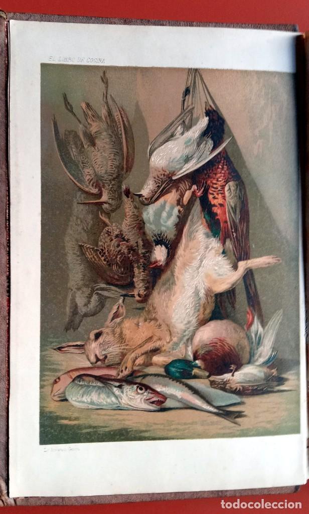 Libros antiguos: EL LIBRO DE COCINA - Comprende LA COCINA CASERA y LA GRAN COCINA - JULES GOUFFE - 1885 ca. - Foto 4 - 213353333