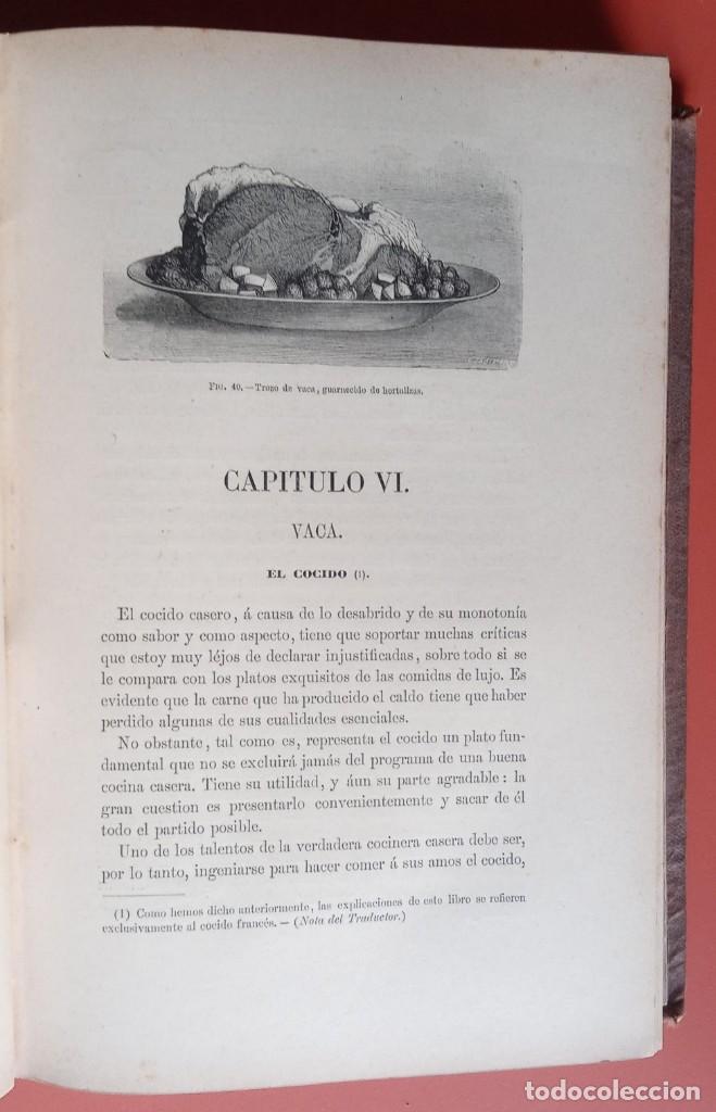 Libros antiguos: EL LIBRO DE COCINA - Comprende LA COCINA CASERA y LA GRAN COCINA - JULES GOUFFE - 1885 ca. - Foto 7 - 213353333
