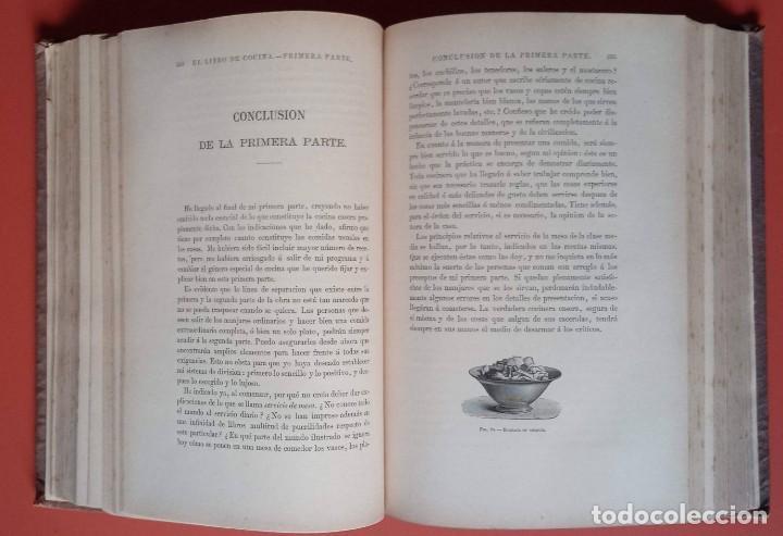 Libros antiguos: EL LIBRO DE COCINA - Comprende LA COCINA CASERA y LA GRAN COCINA - JULES GOUFFE - 1885 ca. - Foto 9 - 213353333