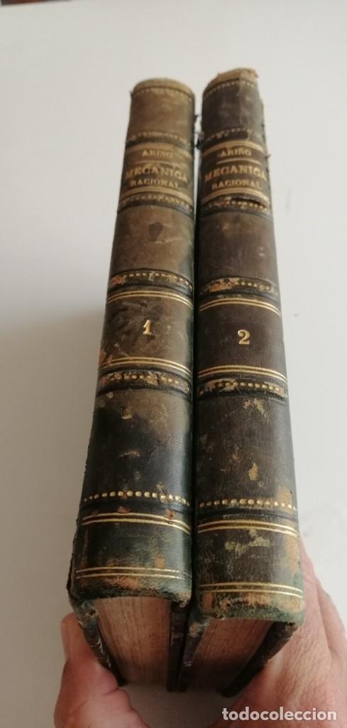 G-21 LIBRO LECCIONES DE MECÁNICA RACIONAL, POR D. TOMÁS ARIÑO Y SANCHO (2 TOMOS, COMPLETA). (Libros Antiguos, Raros y Curiosos - Ciencias, Manuales y Oficios - Otros)