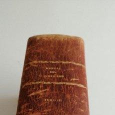 Libros antiguos: G-21 LIBRO MANUAL DEL INGENIERO TOMO III. Lote 213408855