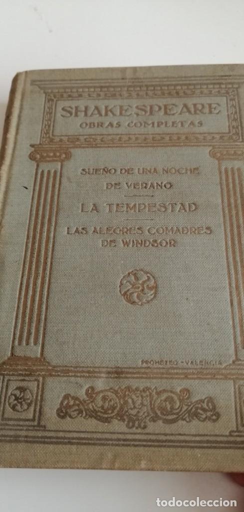 G-21 LIBRO SHAKESPEARE OBRAS COMPLETAS SUEÑO DE UNA NOCHE DE VERANO LA TEMPESTAD (Libros Antiguos, Raros y Curiosos - Ciencias, Manuales y Oficios - Otros)