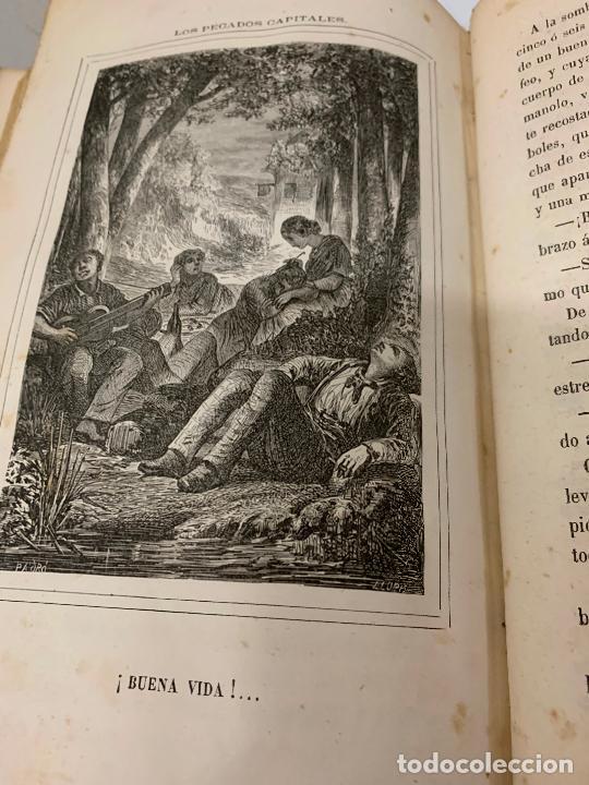 Libros antiguos: LOS PECADOS CAPITALES, Francisco J. Orellana. 1865-1866, 2 tomos en un solo libro - Foto 3 - 213418786