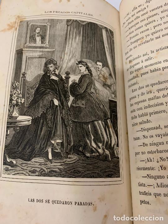 Libros antiguos: LOS PECADOS CAPITALES, Francisco J. Orellana. 1865-1866, 2 tomos en un solo libro - Foto 5 - 213418786